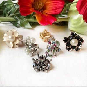 🛍$20 for CCO-just ask! 6 fashion rings